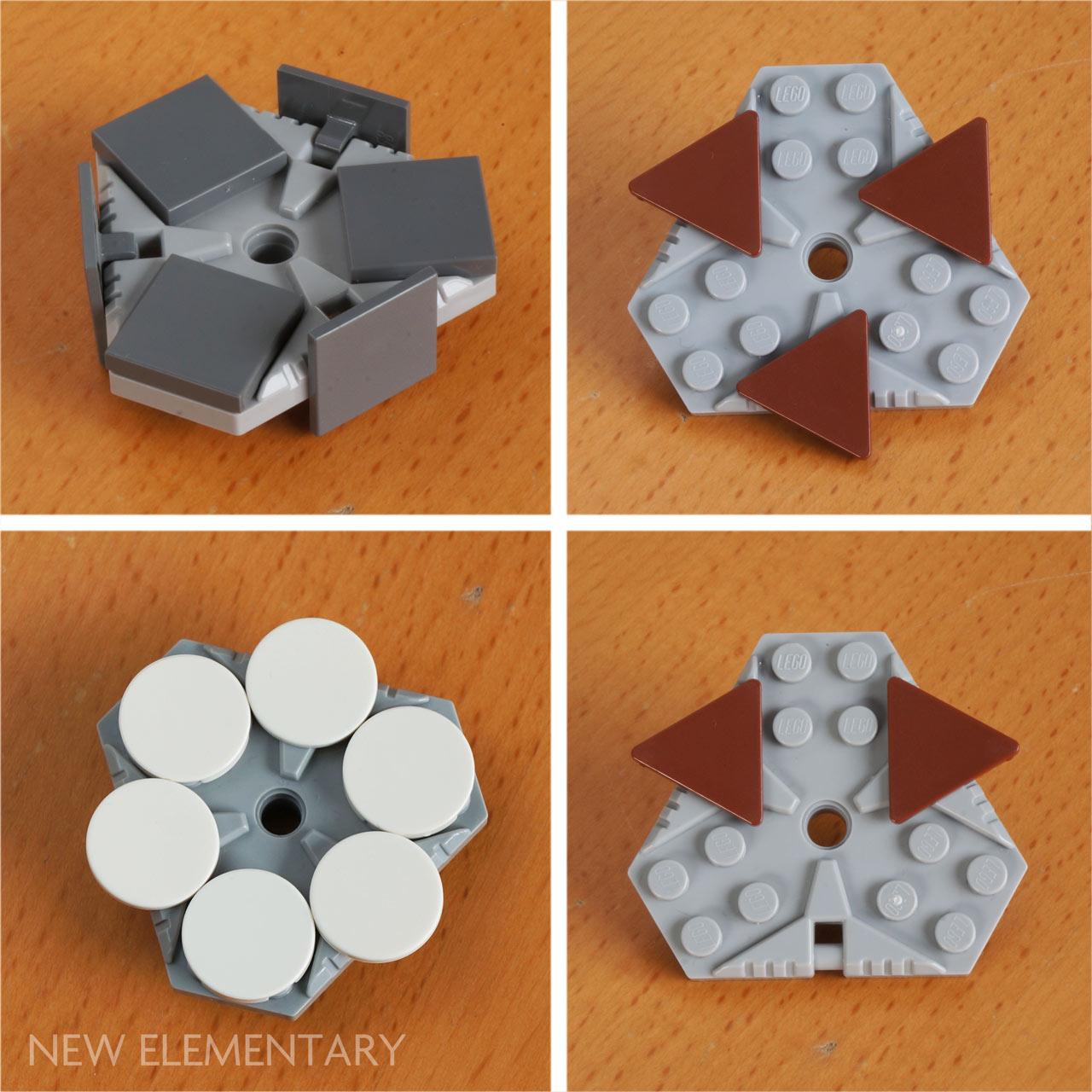 LEGO New Lot of 2 Light Bluish Gray 6x6 Hexagonal Nexo Power Plates Pin Hole