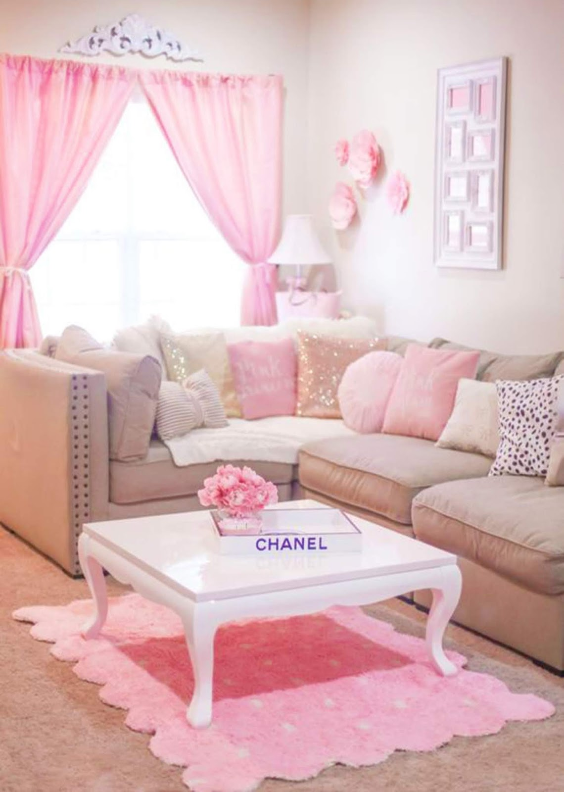 Rooms of Inspiration: Pretty Pink Living Room
