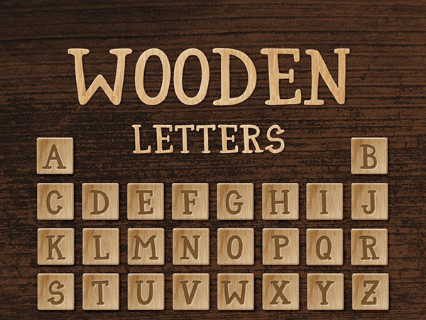 Download Wooden Letters Free