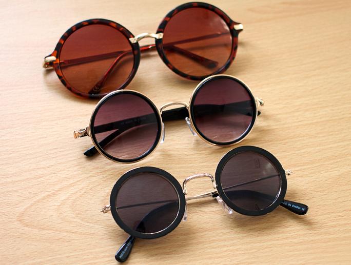 Summer Wardrobe | Round Sunglasses