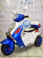 Motor Mainan Aki Pliko Pk7300 Skuter Blue
