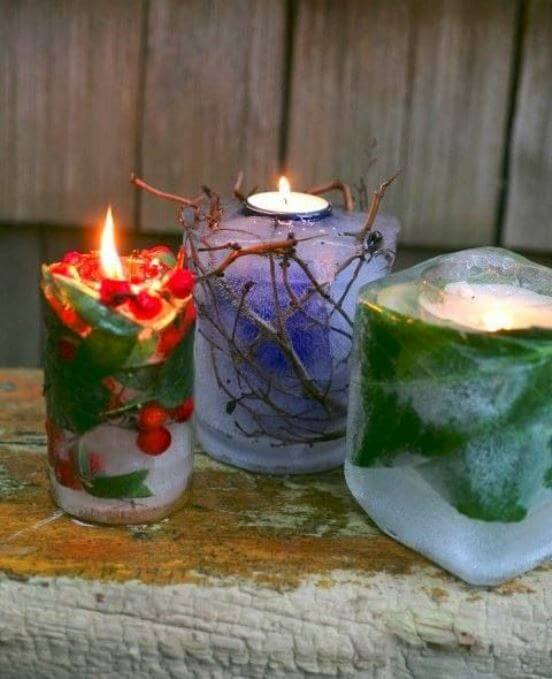 Christmas candle decoration ideas world of makeup and fashion - The world of candles candles decoration ...