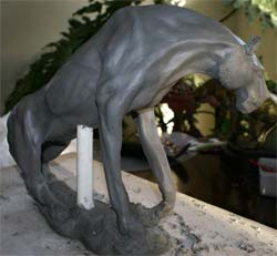 clay wildlife sculpture tutorials, ceramic panther sculpture demonstration