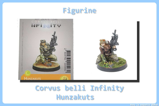 Figurine Hunzakuts :Corvus belli Infinity.