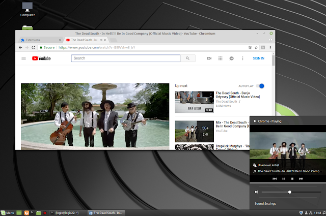 YouTube Controls Cinnamon Sound Applet