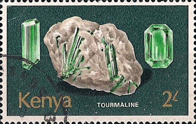 Turmalina. Kenia. Colección filatélica de Pedro Fandos Rodríguez
