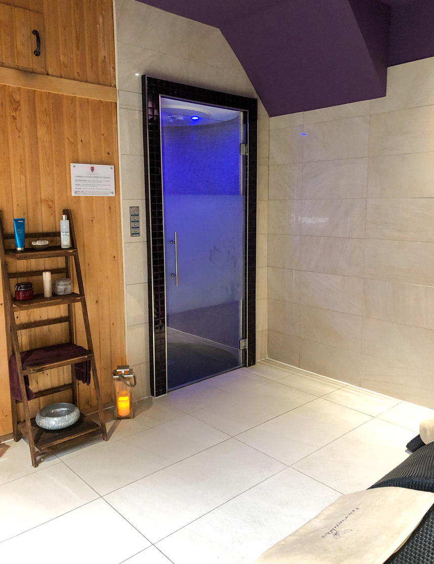 Caribbean Shower at Peckforton Spa