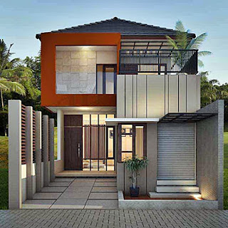 minimalist home design 2 floors ajib - Lampung interior house