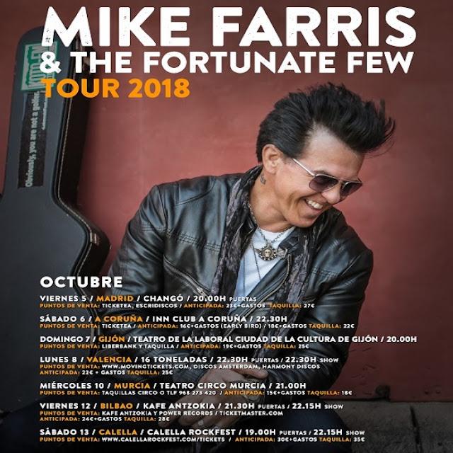 Que vuelve Mike Farris!!! - Spanish Tour - 7 citas en Octubre