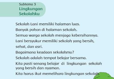 Subtema 3 Lingkungan Sekolahku