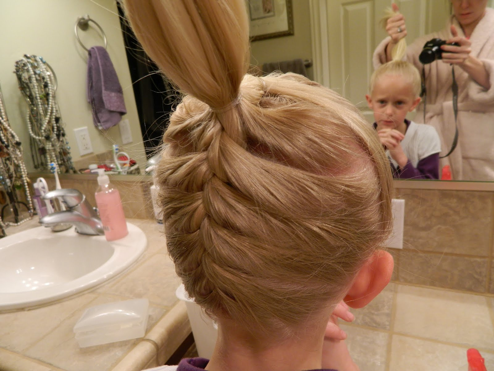 Superb Upside Down French Braid And Stuffed Bun Short Hairstyles Gunalazisus