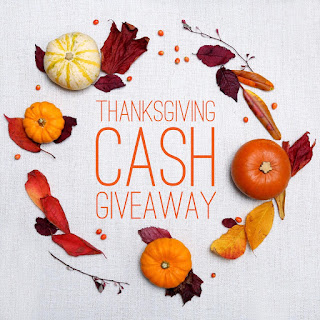 Enter the Thanksgiving $300 Cash Giveaway. Ends 11/30