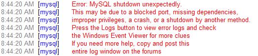 Cara Mengatasi Error MySQL Shutdown Unexpectedly