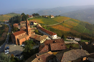A typical hamlet in the picturesque Langhe area of  Piedmont
