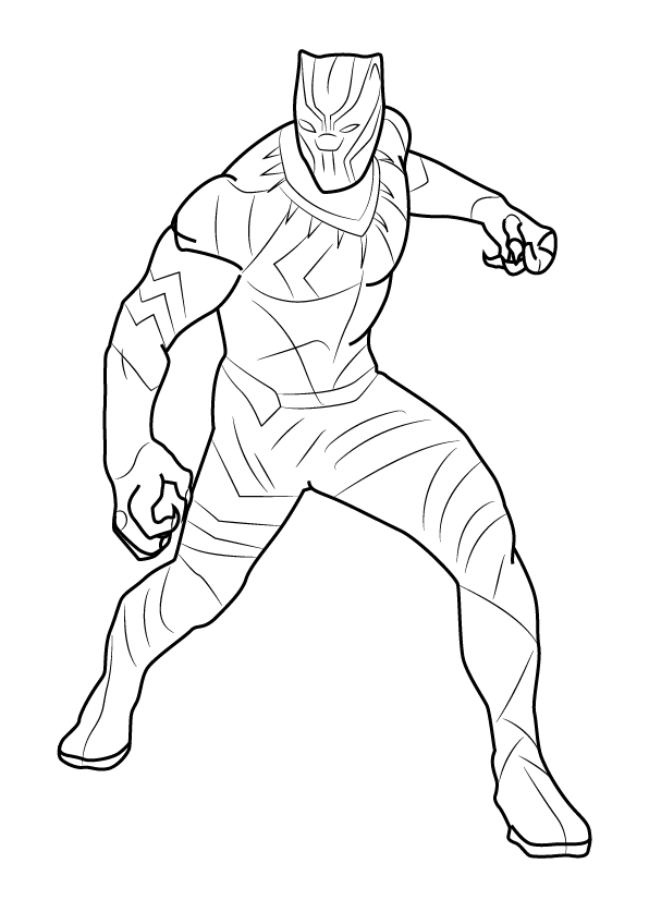 Click to see printable version of Marvel Black Panther Coloring page