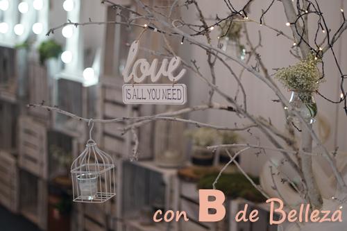 Decoración boda cartel Love