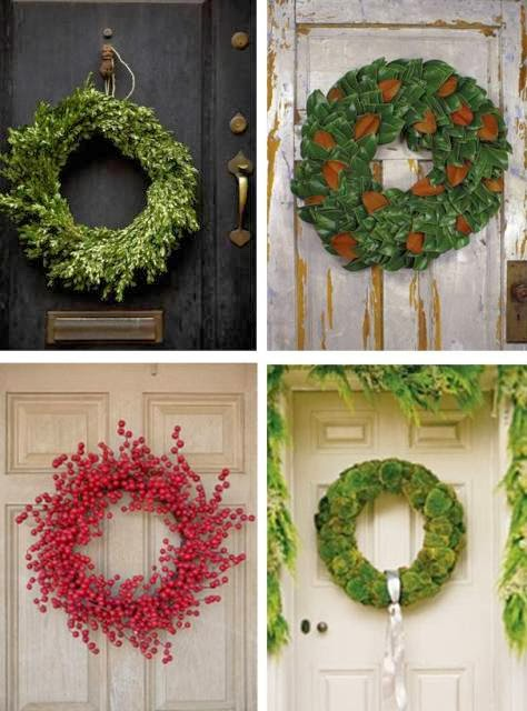 simple holiday wreaths