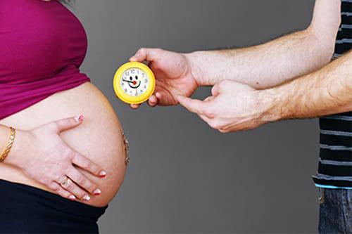 وقت الولادة الطبيعية