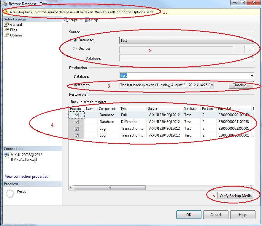 Restore Database In SQL 2012 - SQLServerCentral