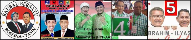 Lima pasang calon Walikota dan wakil Walikota Baubau 2018