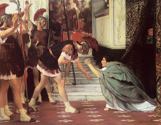 Lawrence Alma-Tadema's 1867 painting shows Claudius pleading for his life with the Praetorian Guard