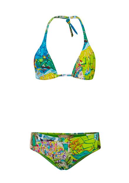 8cb7ec0782 Agua de Coco Brasil printed triangle bikini, at modaoperandi.com.