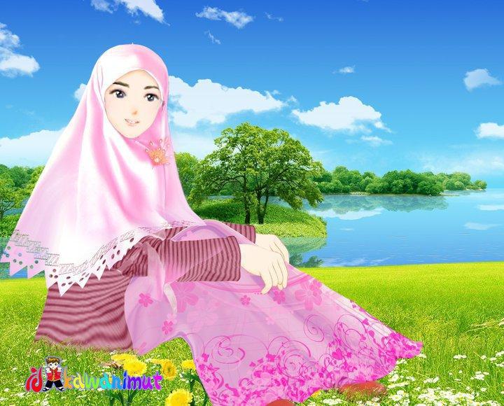Gambar Animasi Kartun Muslim Dan Muslimah Kartun Yunik