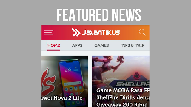 Cara Membuat Featured News Ala Jalan Tikus di Blogger