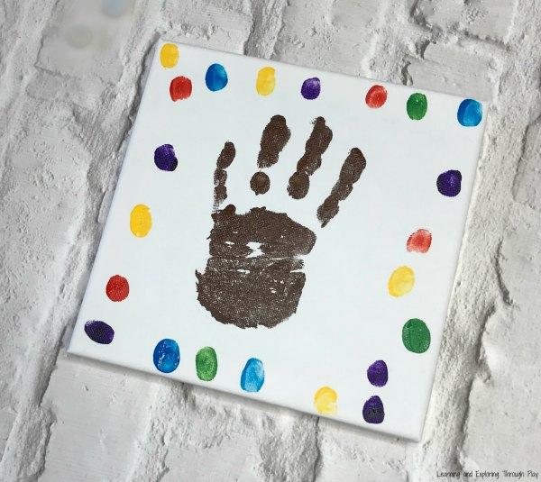Reindeer Hand Print Canvas
