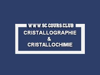 COURS CRISTALLOGRAPHIE ET CRISTALLOCHIMIE I SMC S4 PDF