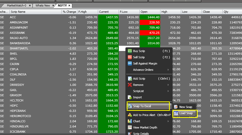 Trading system excel download