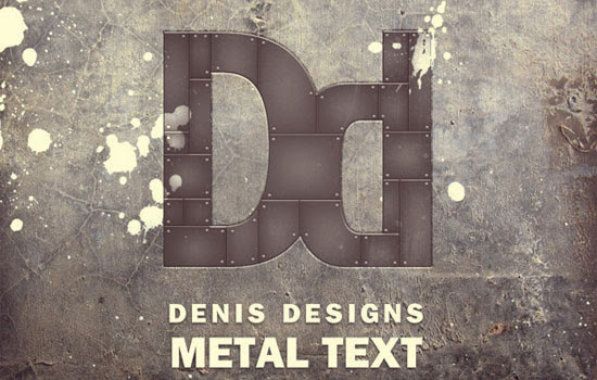 Create a Retro Metal Text Poster