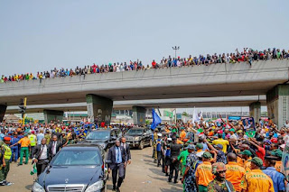 Pictures from APC Campaign Rally in Lagos State.