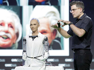 Azed  right for giving robot citizenship, as it restricts women's rights PHOTO: Sophia the Robot, attends Day 2 of the RISE Conference 2017, on July 12, in Hong Kong.