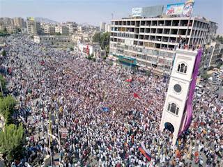 مظاهرات عارمة اليوم الجمعة، في محافظة إدلب وحماة وريف حلب بسوريا لاسقاط بشار الاسد