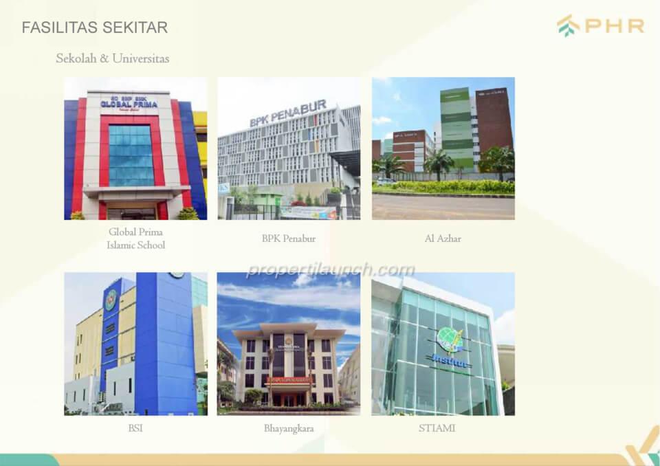 Fasilitas sekitar PHR Bekasi