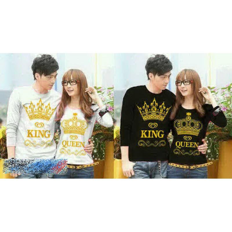 Jual Couple Lengan Panjang LP King Queen Crown - 22100
