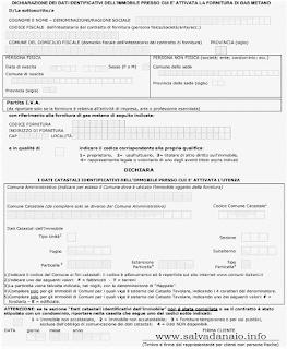 modulo allacciamento gas documento pdf