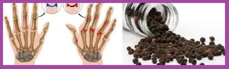 pimienta negra para la artrtis reumatoide
