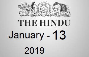 The Hindu Newspaper Today 13 January 2019 Download PDF