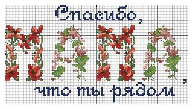 Схемы для вышивки крестом для мамы на день рождения