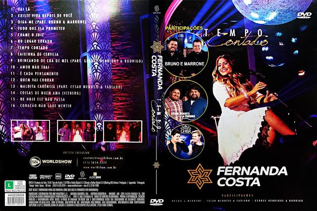 Capa DVD Fernanda Costa Tempo Contado