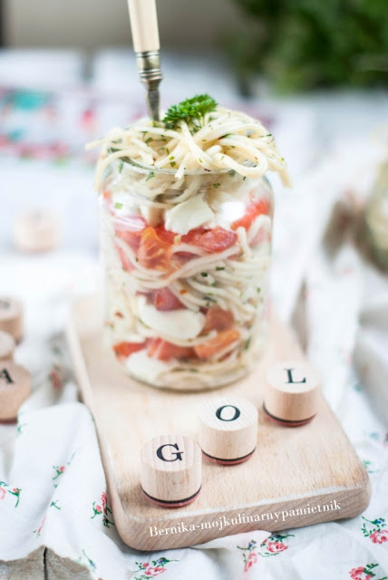 makaron, lubella, salatka, bernika, kulinarny pamietnik, przekaska