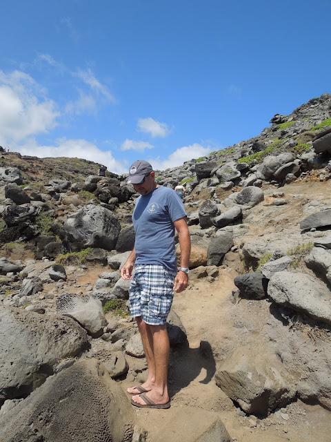 Ron on rocks