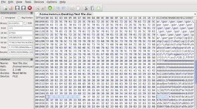 examine malicious ole file