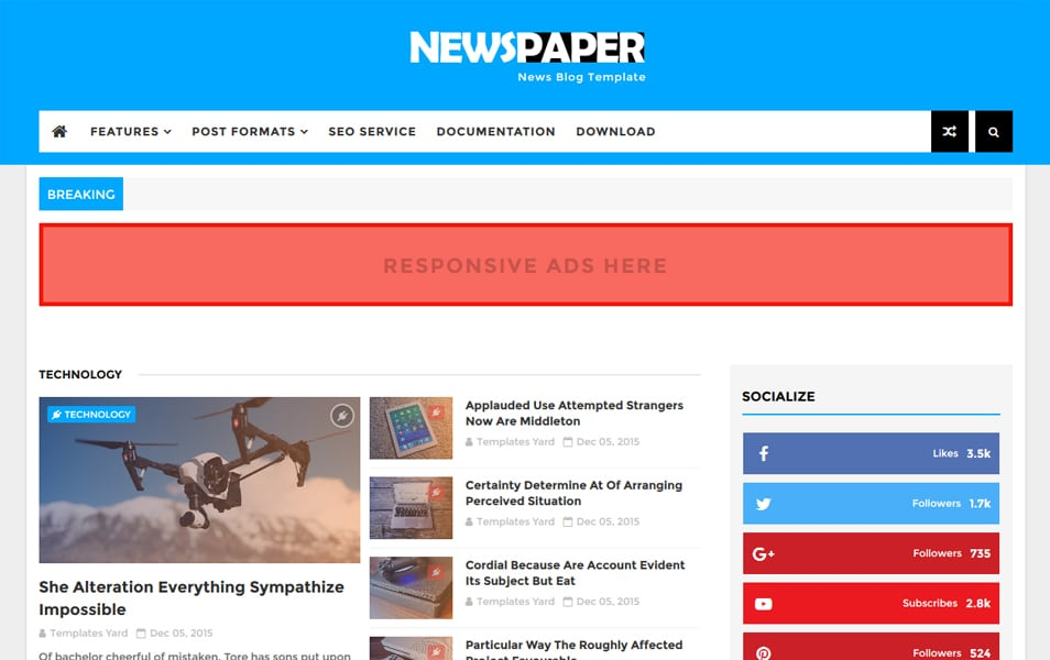 Newspaper News Blogger Teması