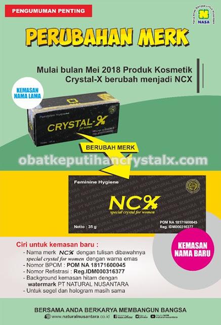 ncx perubahan merek crystal x nasa