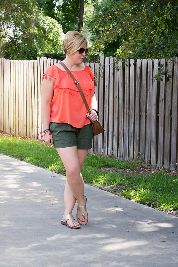 tassel top, olive shorts, Savvy Southern Chic, summer outfit, womens summer fashion