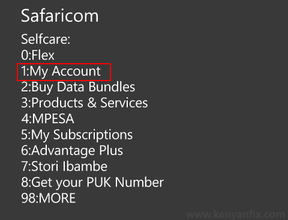 safaricom my account