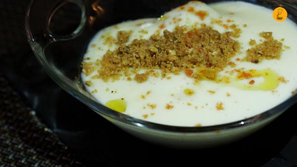 Frambuesa y coco en Goceco Gastrobar Fuenlabrada